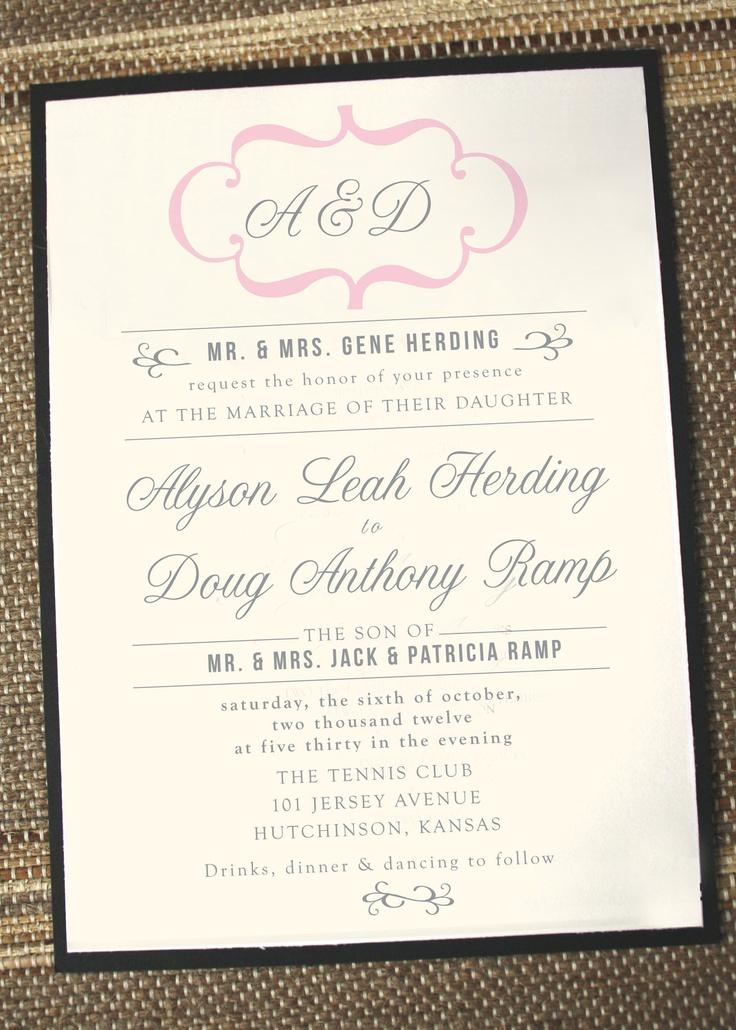 Modern+Vintage+Wedding+Invitation+by+Annamalie+on+Etsy,+$2.25