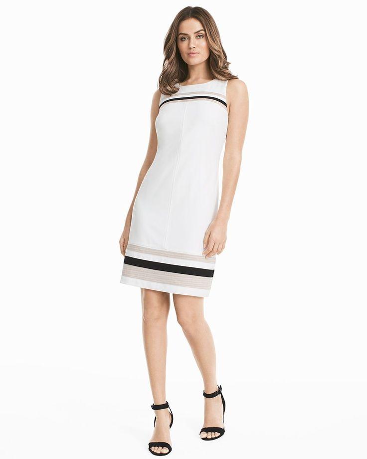 Stripe Hem Shift Dress