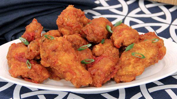 Crispy Chicken Wings with Tsaketa Hot Sauce