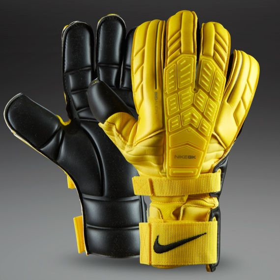 Nike Goalkeeper Gloves - Nike GK Confidence Gloves - Goalie Gloves - Goalkeeping - Yellow-Yellow-Black