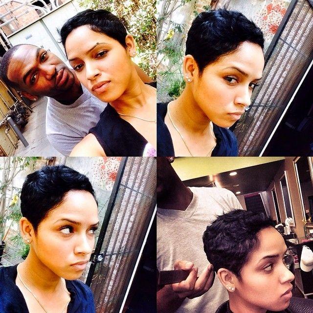 Back at it w/ my RayRay @hair4kicks... Growin back!! #ravaughn #lovealways #LA #raydonhair #shorthairdontcare #Padgram