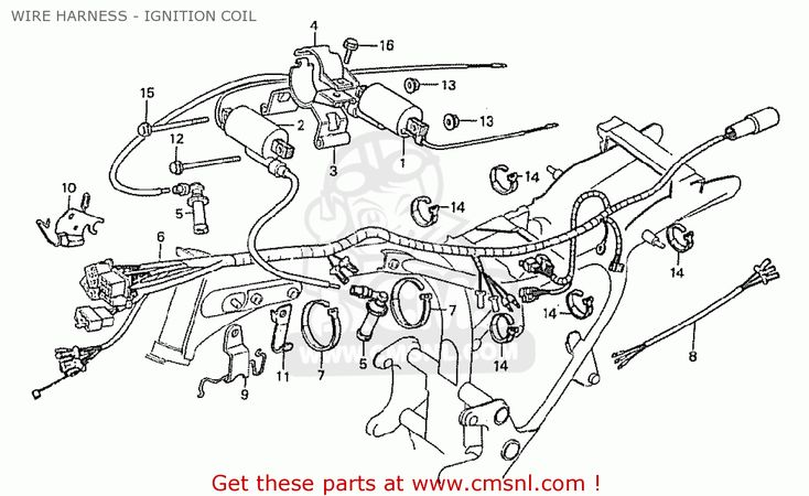 Honda Cx500cb Custom 1981 (denmark) Wire Harness