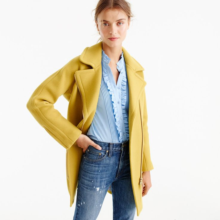 Zippered Coat In Stadium-Cloth : Women's Coats & Jackets / J.Crew