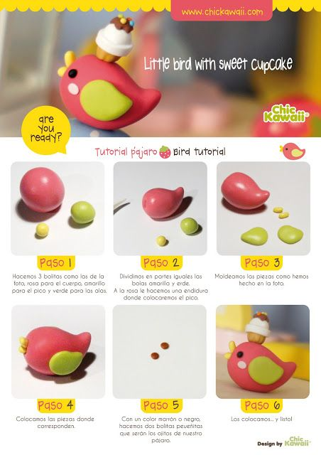 Tutorial pajarito Kawaii. Por CHIC KAWAII ♥