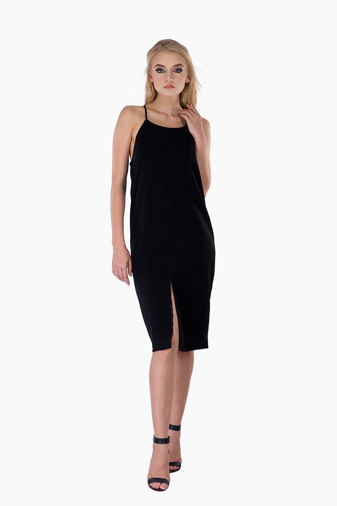 Black Flowy Shift Dress – Mojau