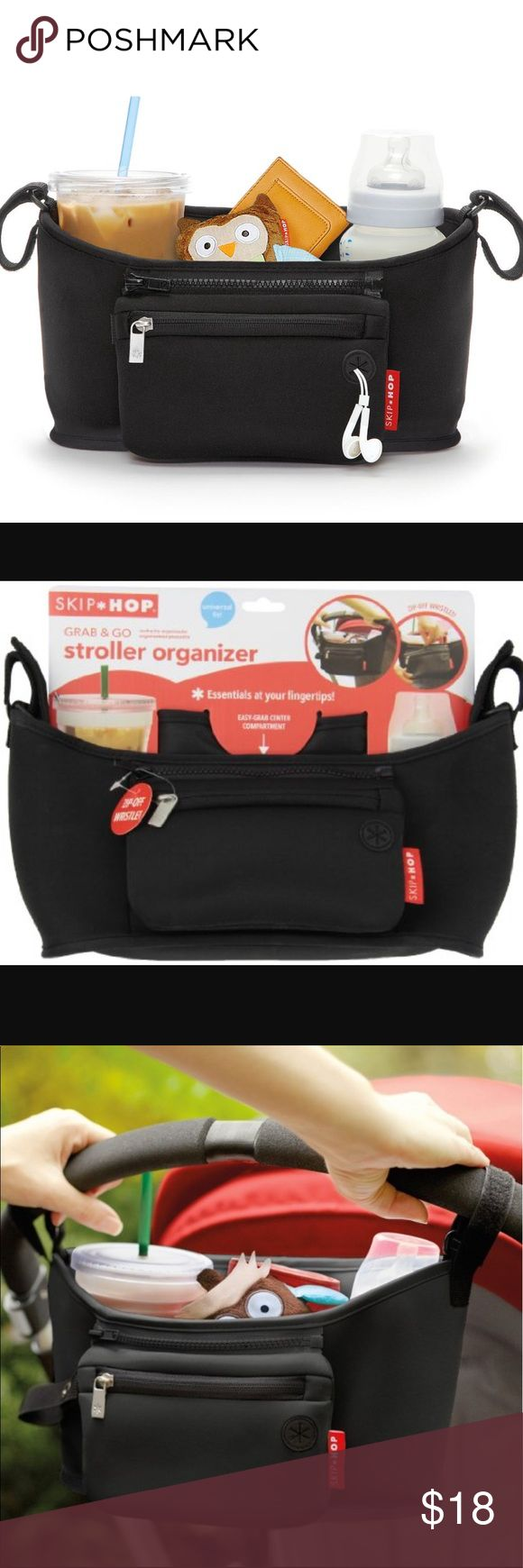 Skip Hop Stroll & Go Stroller Organizer Brand new never been used stroller organizer. Is Pete t for the moms who don't like to haul around a huge baby bag with them. This is all you need! Has as much storage space and compartments as a bag! Just clip on the stroller and you're ready to go! Don't hesitate to ask any questions! Skip Hop Accessories