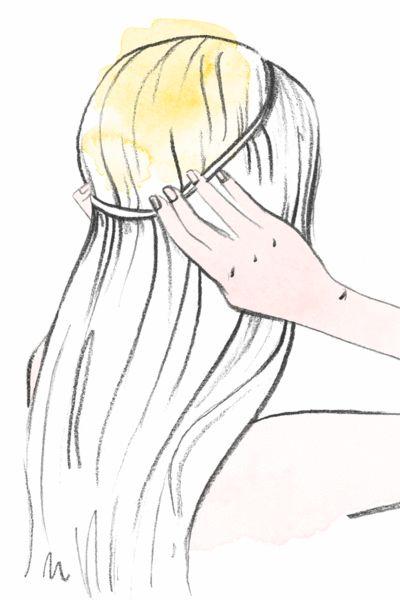 Bei mindestens schulterlangem Haar