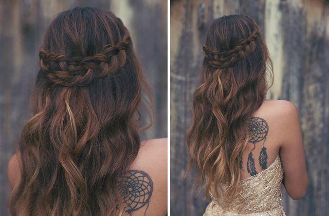 maquiagem e penteado para casamento | Boho Chic