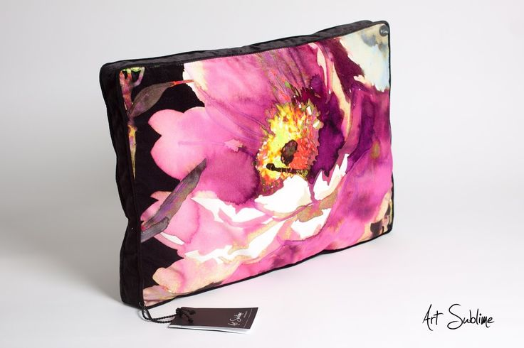 €149,00  EXTRAVAGANCE Black Blossom Pink size:65cmx45cm www.art-sublime.com  Art Sublime cushion, pillow www.facebook.com/ArtAndSublime?fref=ts -  #decorative pillow #cushion #decor #design #homedecor #decorative #Decorative pillow #interior design #poduszki ozdobne #art sublime #Decorate Your Home #armchair #chair #poduszki aksamitne #luksusowe poduszki
