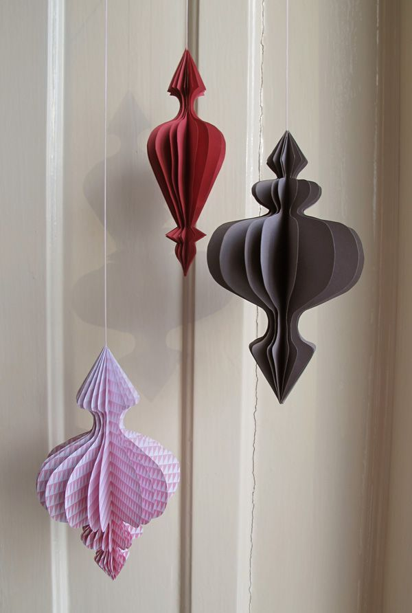 it's a heart heart season: 1001 night paper ornaments; downloaded pdfs of four ornaments