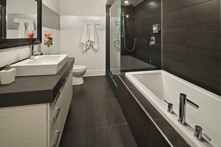 Salle de bain baignoire et douche petit espace recherche for Douche et baignoire dans petite salle de bain