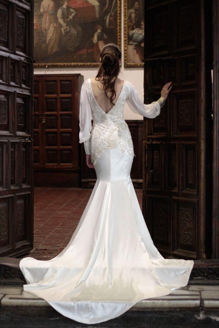 vestido de novia sirena encaje.