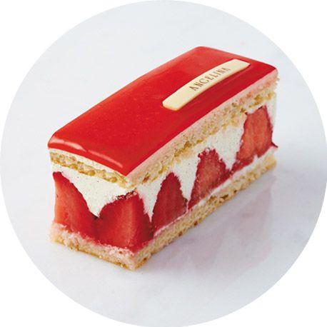 Incontournable des beaux jours, le célèbre fraisier allie la fraîcheur des fraises et la douceur de la crème vanillée. Biscuit noisette, cr...