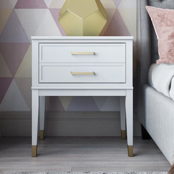 Westerleigh 1 Drawer Nightstand Bedroom Makeover Before After