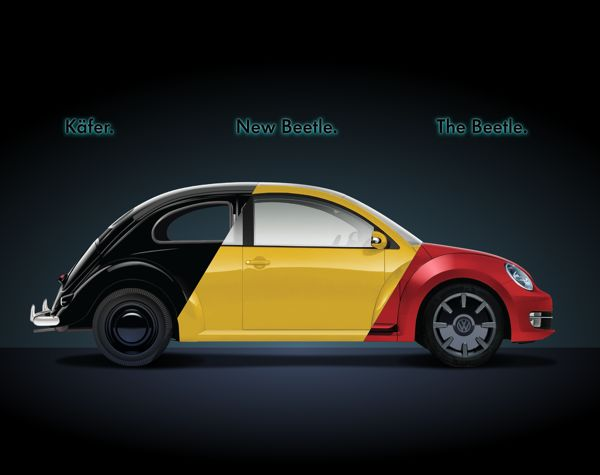 3 Beetle in 1 by Silviu-Ionuț Radu, via Behance