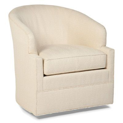 Fairfield Chair Transitional Swivel Barrel Chair Color: Walnut