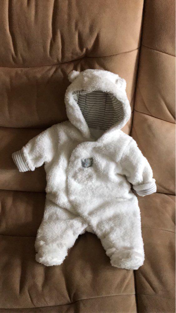 13db75daf White Bear Baby Boy Girl Unisex Hooded Winter Warm Jumpsuit Infant ...