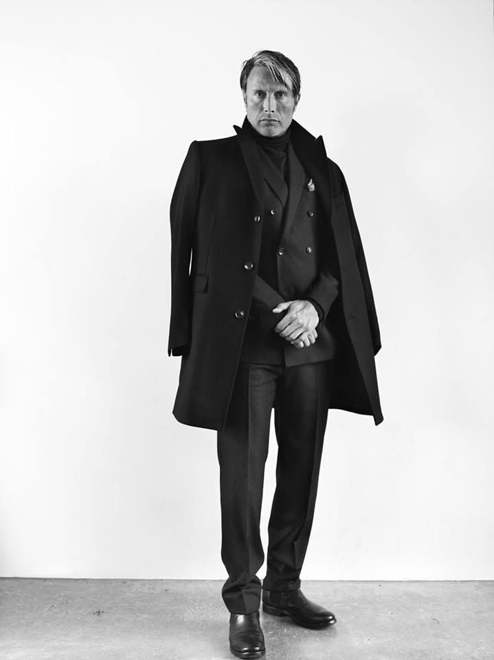 Mads Mikkelsen photographed by Bryan Adams for Zoo Magazine.
