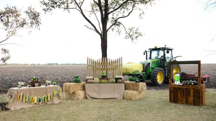decorating for john deere party | John Deere Farm themed birthday party via Kara's Party Ideas ...