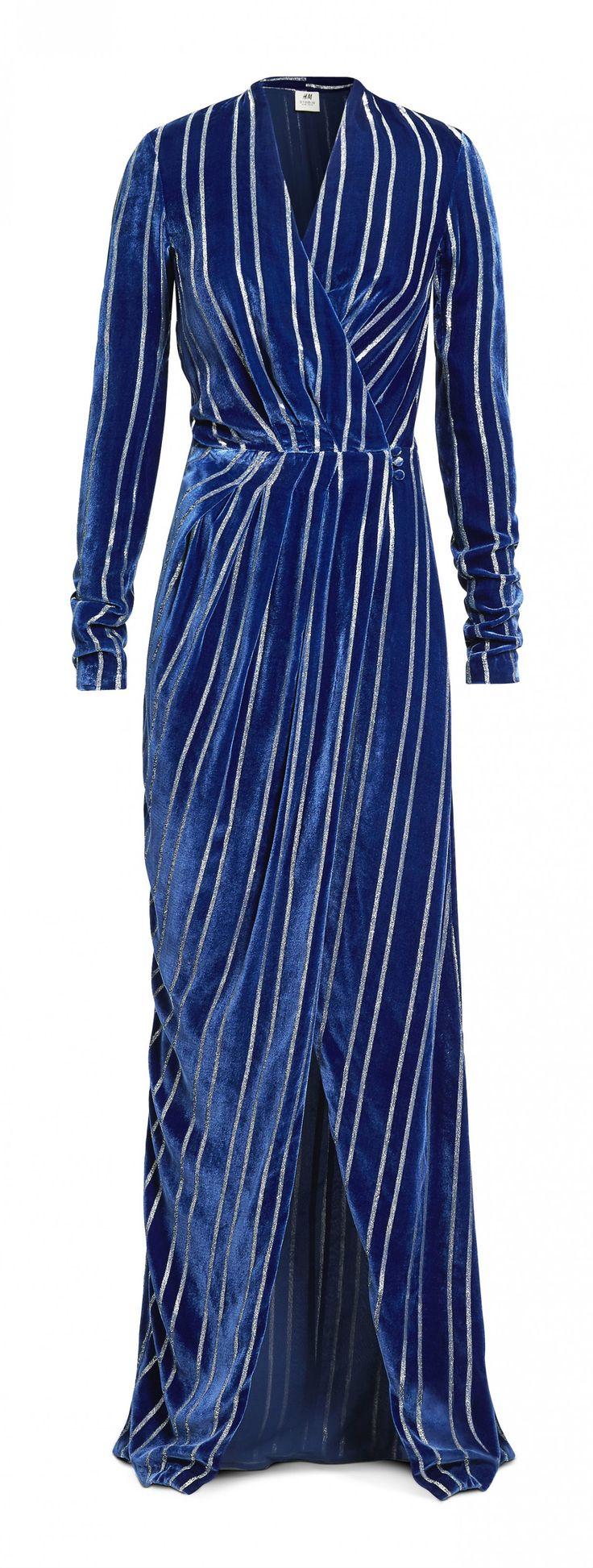 H&M automne hiver 2016-2017 : une robe longue fendue