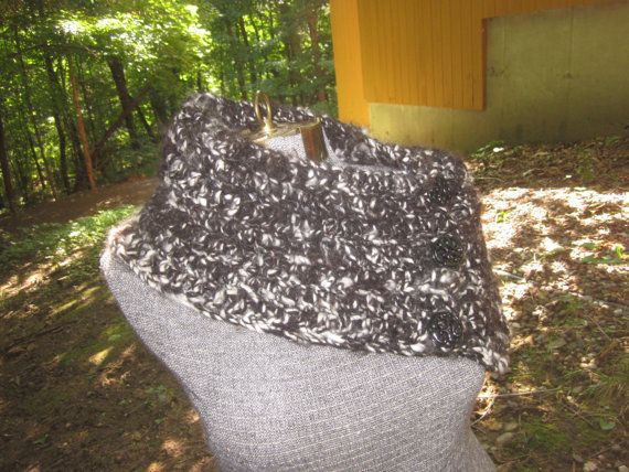 Scarf Cowl Collar 3 Button Boston Harbor by HandcraftedInHebron