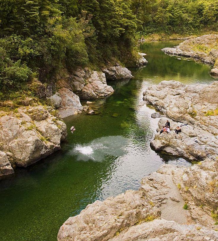 Swimming hole at Pelorus Bridge,  see more at New Zealand Journeys app for iPad www.gopix.co.nz