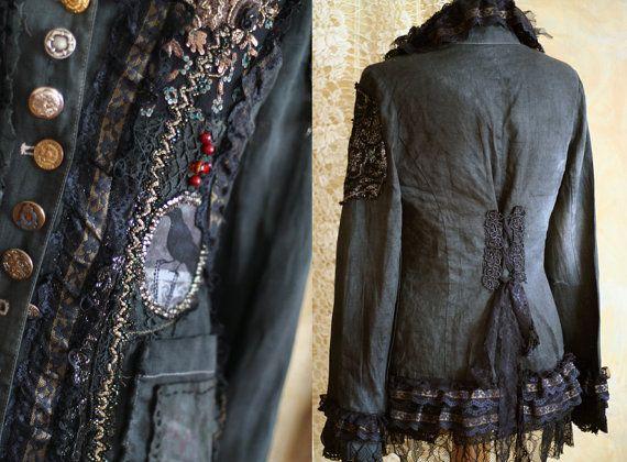 RESERVED for Leslie Steampunk jacket extravagant par FleursBoheme