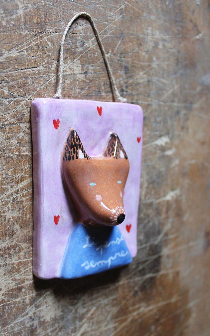 Decorazione Volpe in ceramica fatta a mano : Accessori casa di concreta