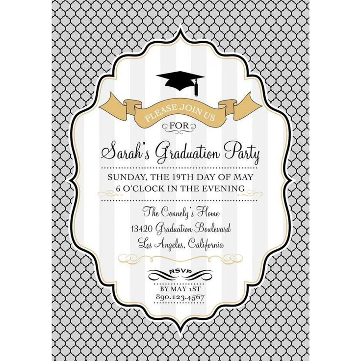 63 best Graduation Party Invitation Templates images on Pinterest - graduation invitation template