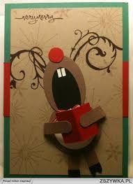 Znalezione obrazy dla zapytania kartki bożonarodzeniowe ręcznie robione z reniferem