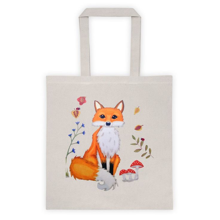 Fox totes woodland creatures totebags. Lovely totes for your groceries boks and more! Visit lumisadesign for more cute totes And prints.