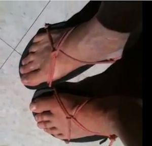 Kit Raymond's Huarache Running Sandal Tying Method