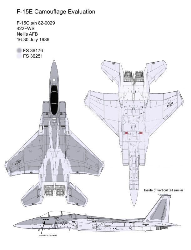 F-15C in Visual Signature Reduction camouflage scheme. | McDonnell