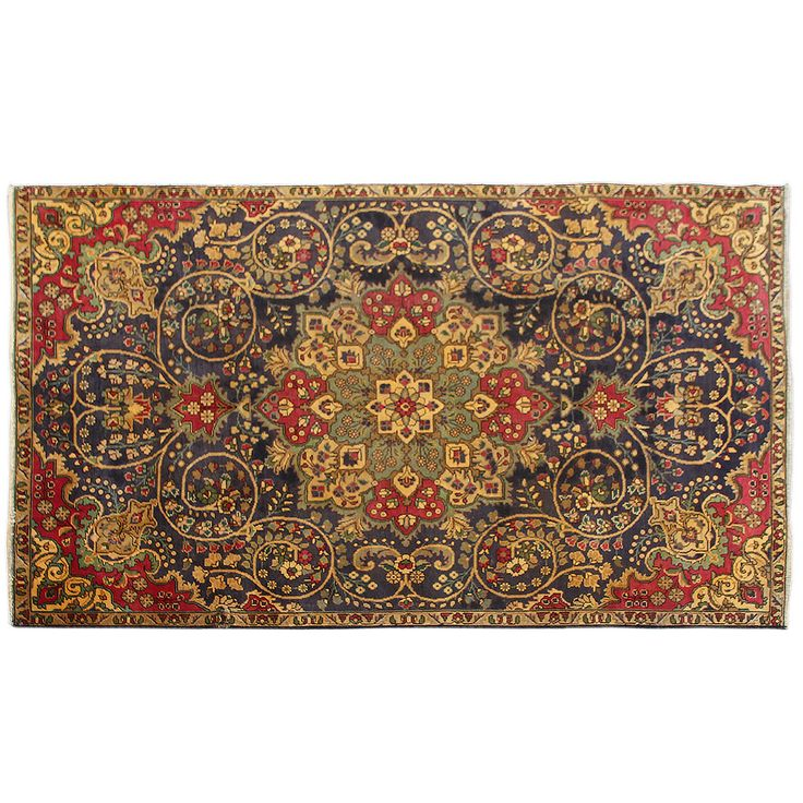 "8'8"" x 5'3"".Vintage Persian rug, Traditional area rug for sale, Oriental floor carpet, Floral design, Hand knotted, area rug, Vintage wool rug, Code : S0101251"