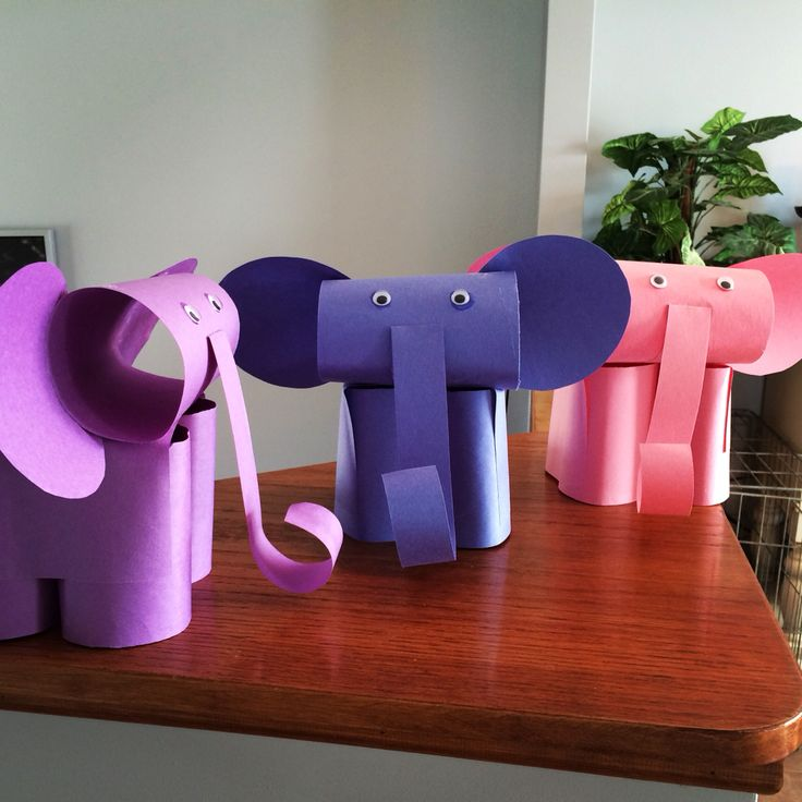 Cute,easy to make elephants from toilet paper rolls just for kids
