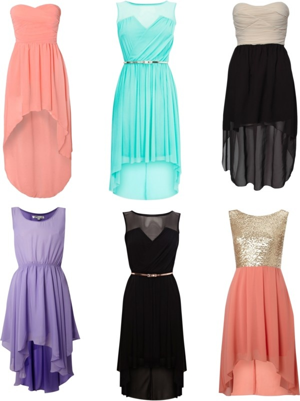 high low dresses polyvore - photo #7