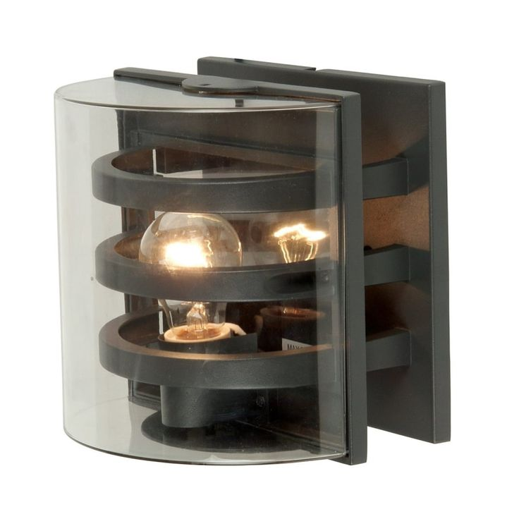 Lutec Delta 1838 IP54 Outdoor Wall Light in Graphite   Arrow Electrical
