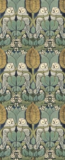 Wonderful Morris style pattern. Don't know who the designer is. It is not a registered Morris pattern as far as I know.