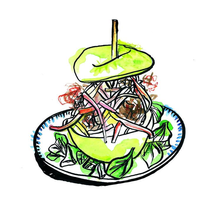 #food illustration #food #sandwich #illustration