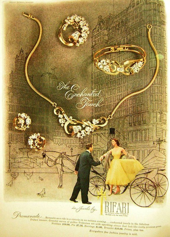 37 best vintage jewelry advertisements images on Pinterest Vintage