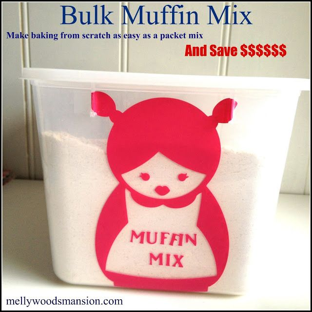 how to make muffin mix from scratch