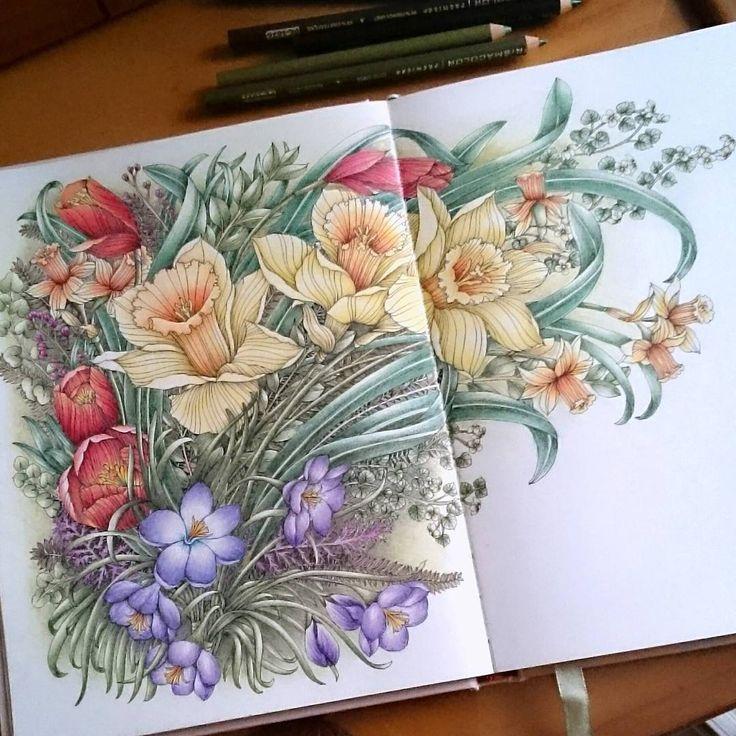 The flower year #thefloweryearcoloringbook #thefloweryear #leiladuly #adultcolor...