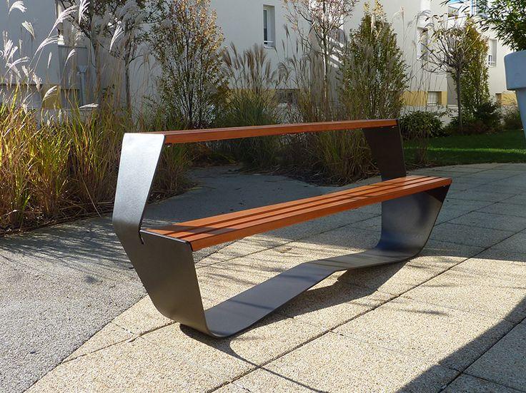 Table Pique Nique Acier Bois Karma - Concept Urbain - Fabricant de mobilier urbain – Street furniture manufacturer
