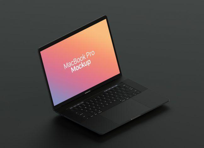 Free Matt Black Macbook Pro Mockup Psd Macbook Mockup Macbook Macbook Pro
