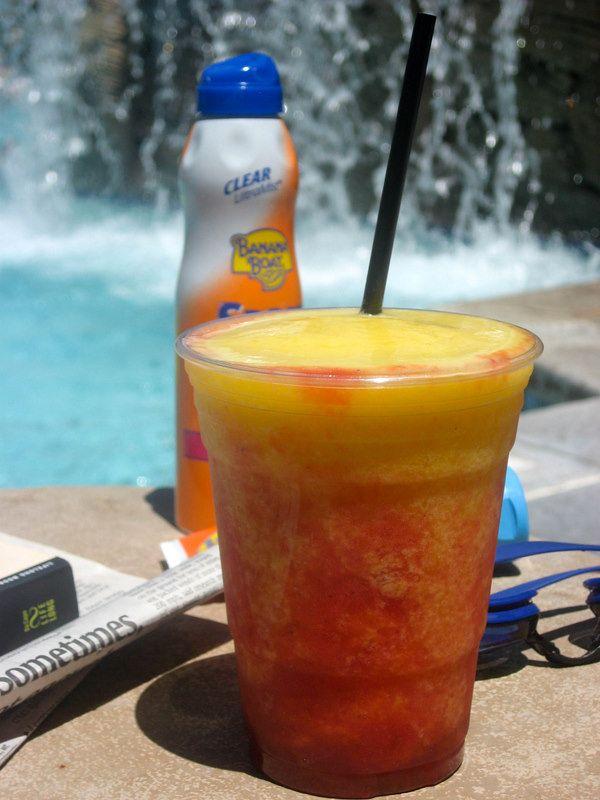 3 Pool Drink Recipes: 1) Mango-Tango Rita, 2) Waterslide Splash, & 3) Prickly Pear Margarita