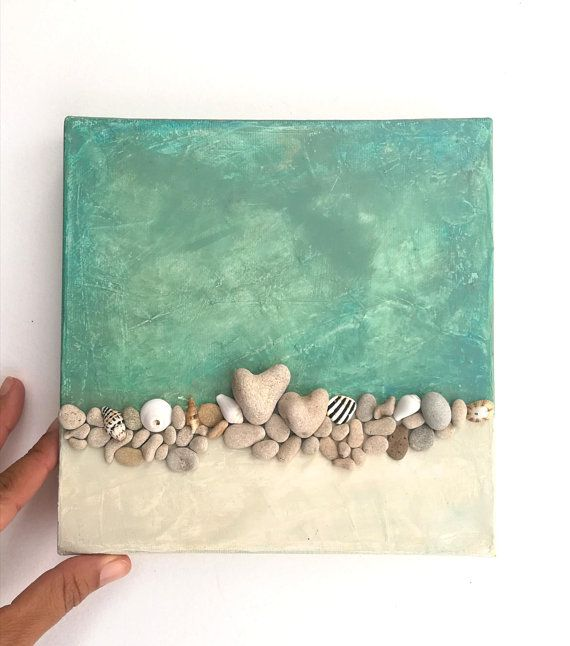 Unique Passover gift, Jewish gift Israel, Pebble art, Unique wall art, Beach House Wall Decor, Gift for Beach lovers, Israeli Art, Unique