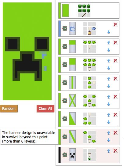 Image result for Minecraft Recipes Banner Crafting