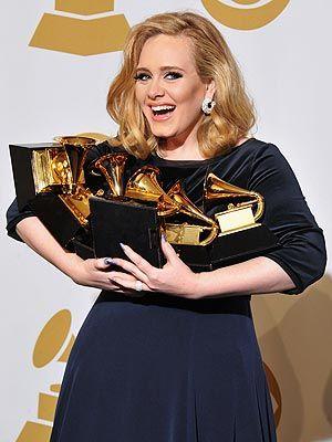 Adele...love her!! So well deserved #Grammys2012
