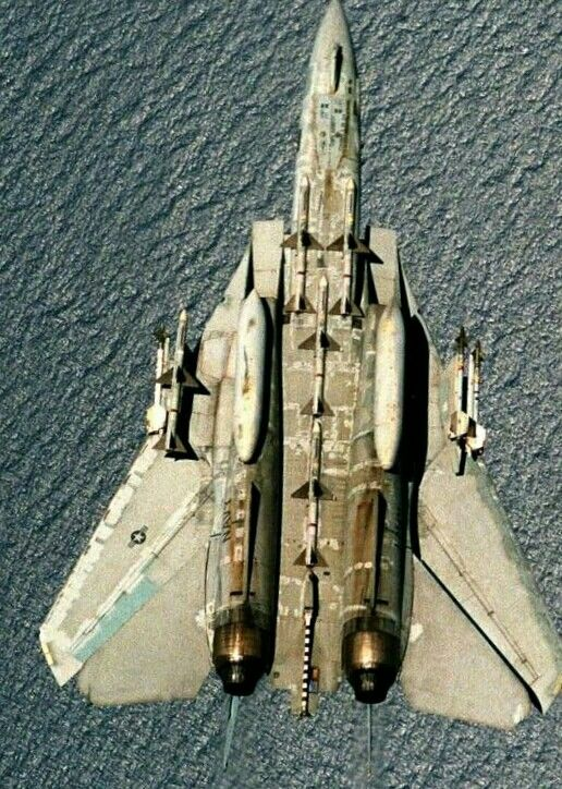 F-14 inverted