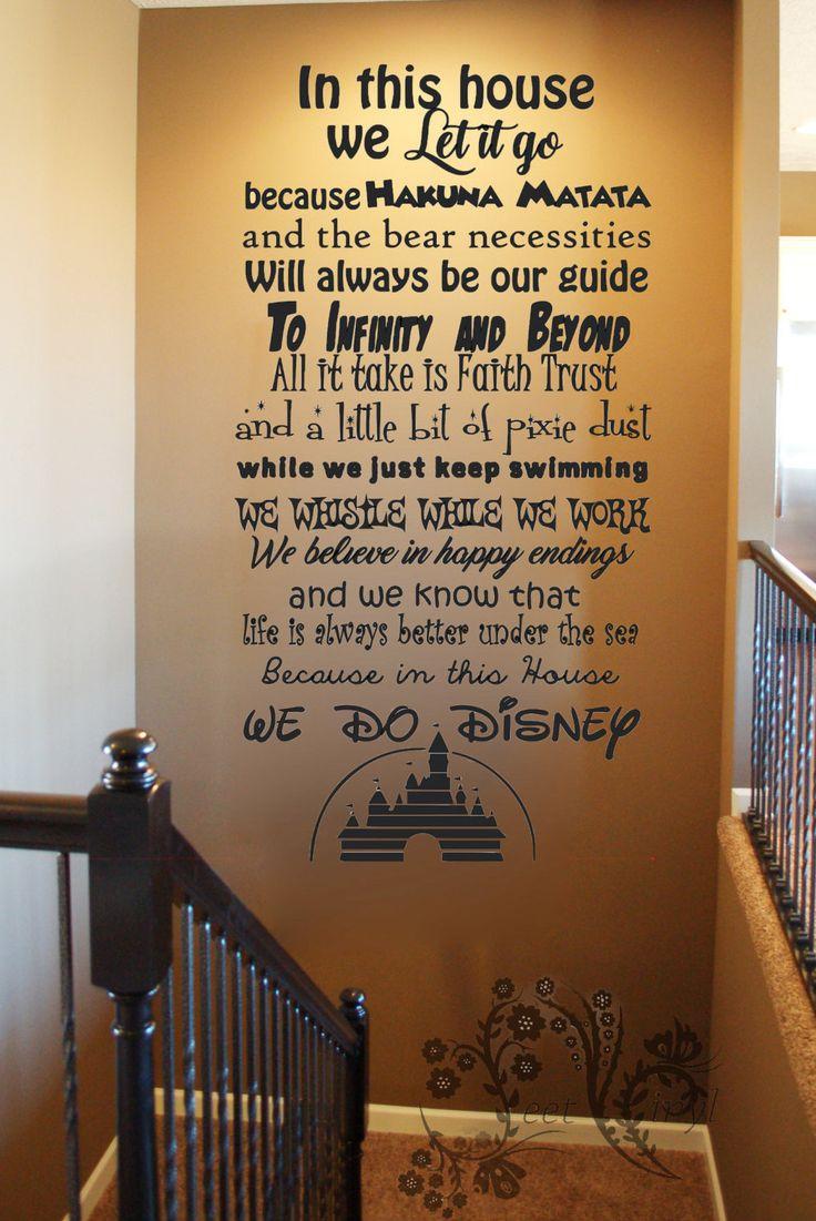 288 best vinyl wall art images on pinterest vinyl decals vinyl disney wall decals in this house vinyl wall art menu
